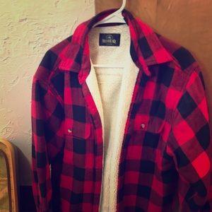 Redhead flannel shirt jacket